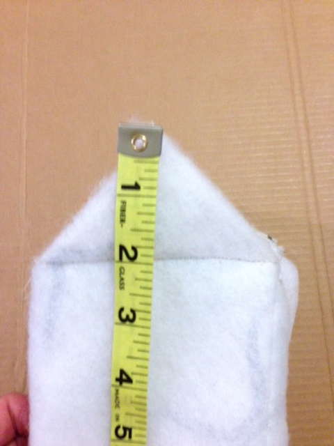 measure the distance to the corner and make the outer fabric the same