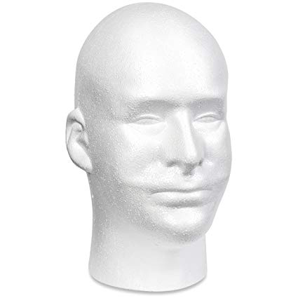 Common styrofoam head