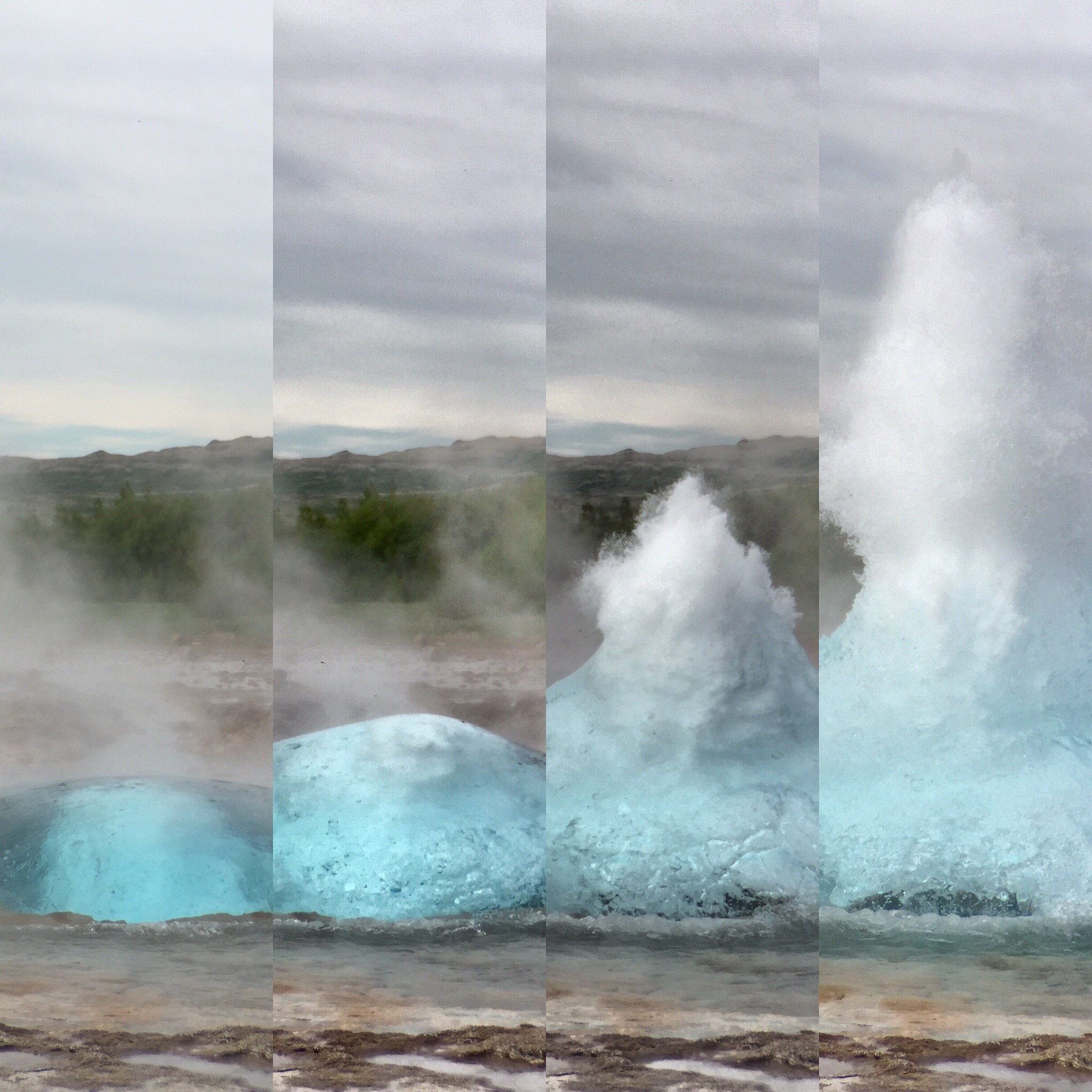 Geyser Eruption captured in burst mode with an iPhone 6 Plus.