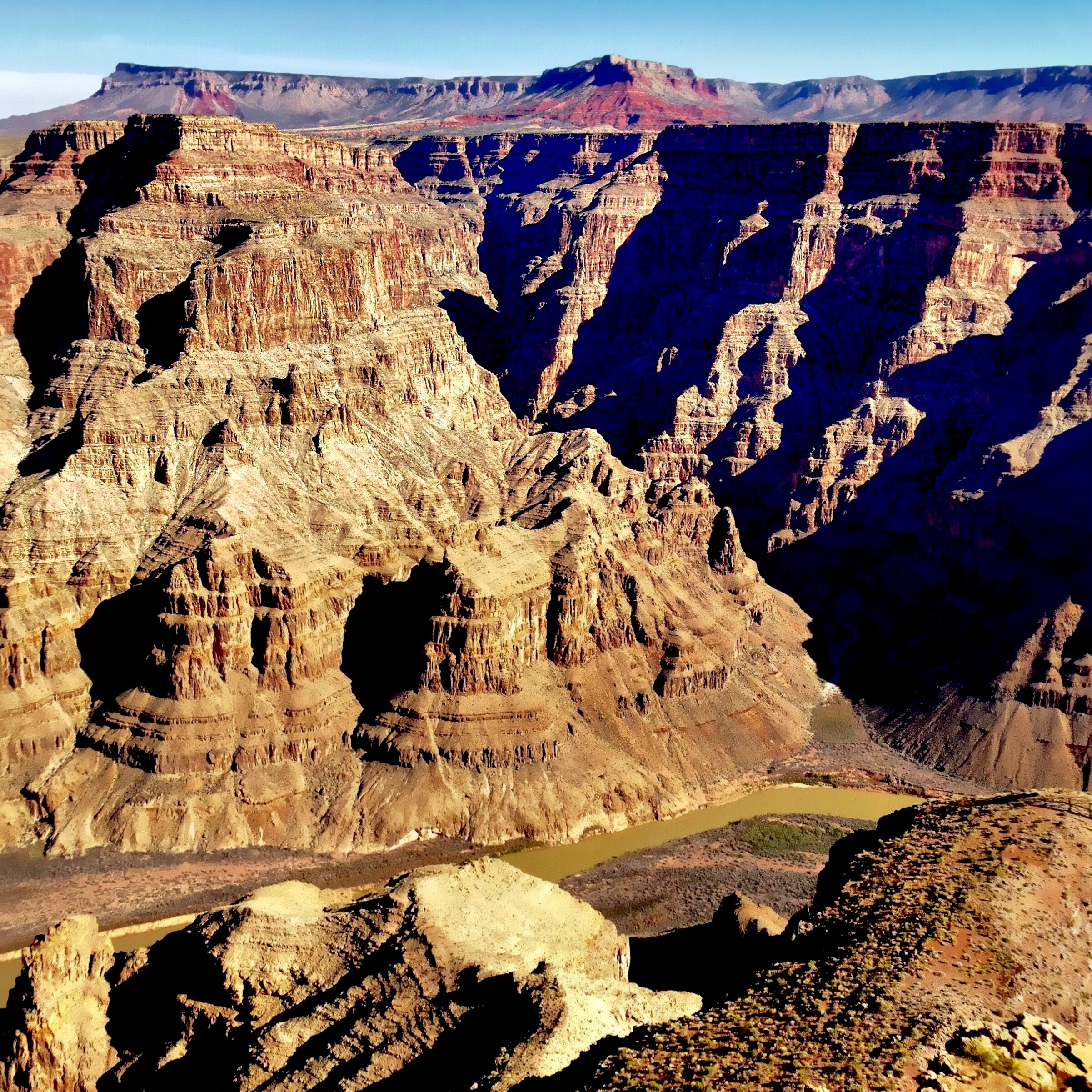 Get a beautiful view into the Grand Canyon from the Sky Walk; (cc) by-nc squics.com