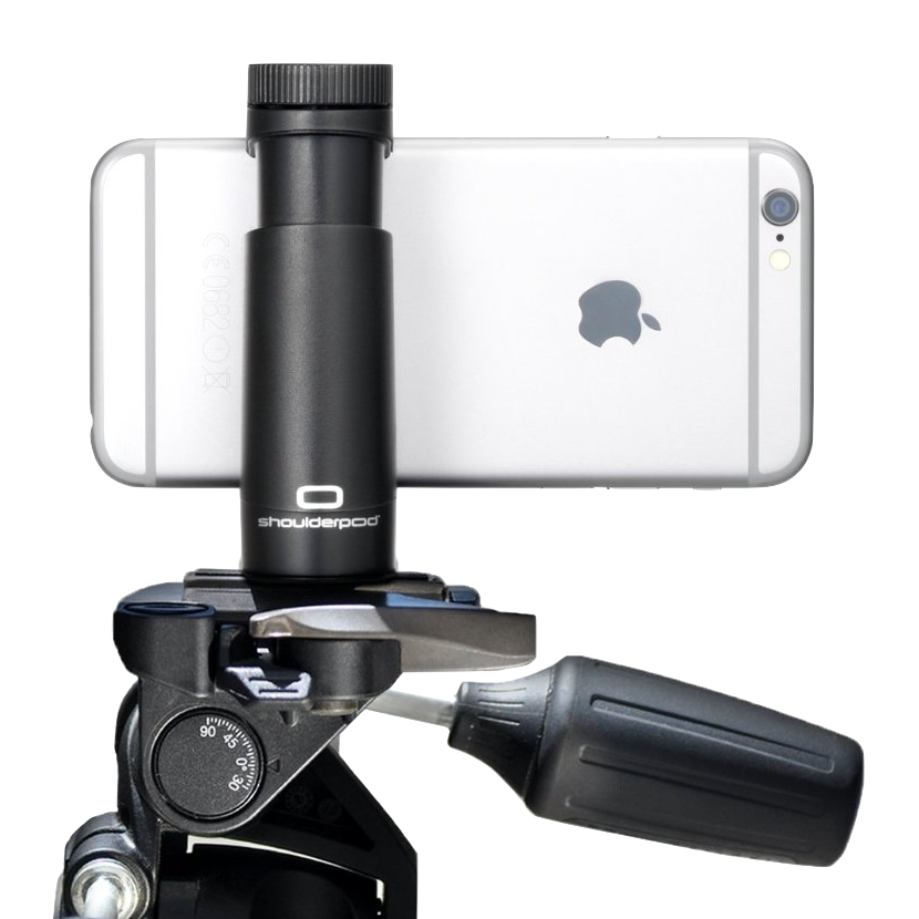 Unscrew the bottom part and the ShoulderPod S1 works as a Tripod Mount