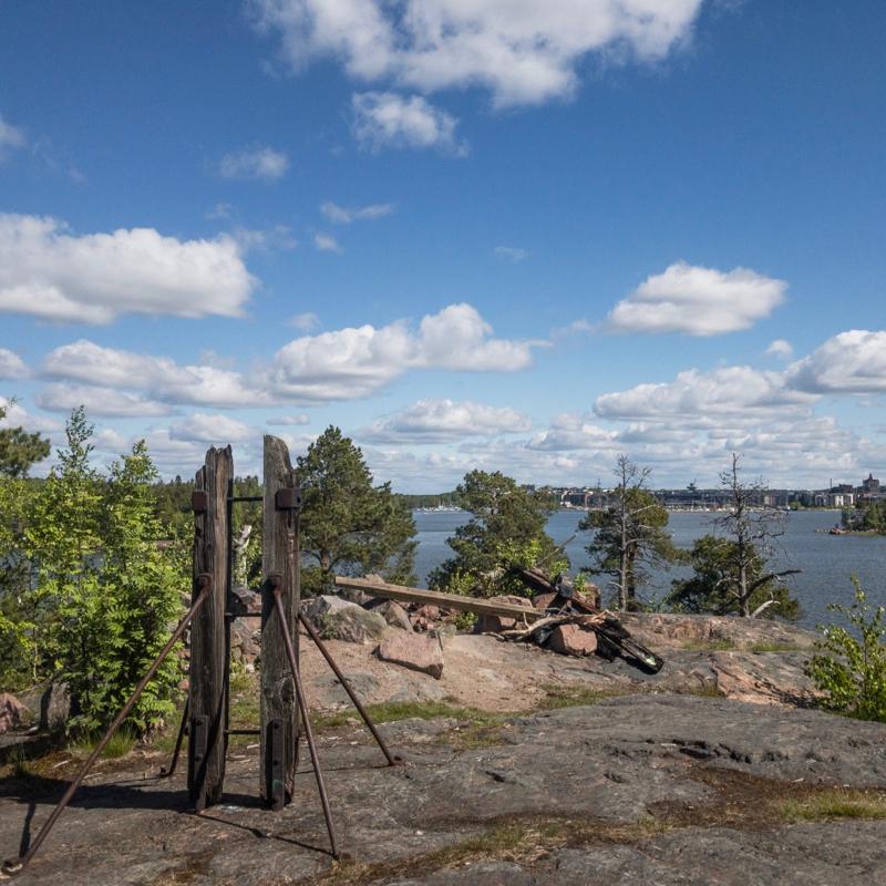 Remains of a house in Kruunuvuori, Helsinki, Finnland