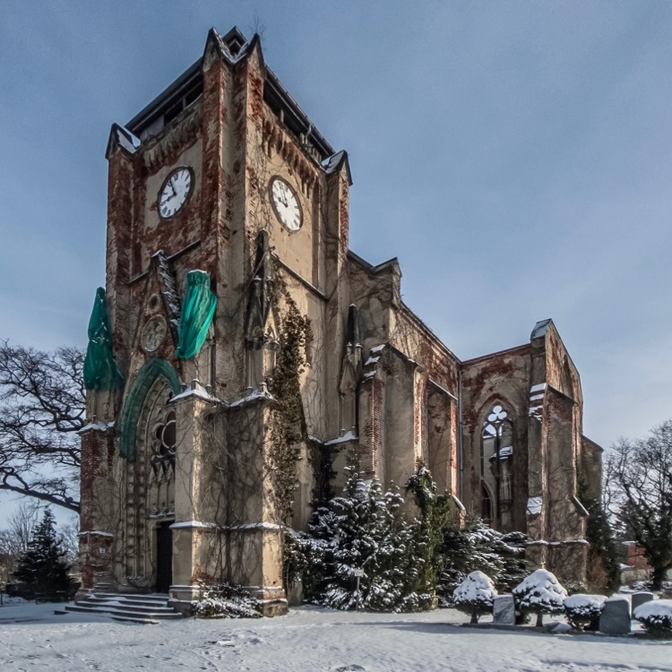 Abandoned Church Ruin at Wachau near Leipzig