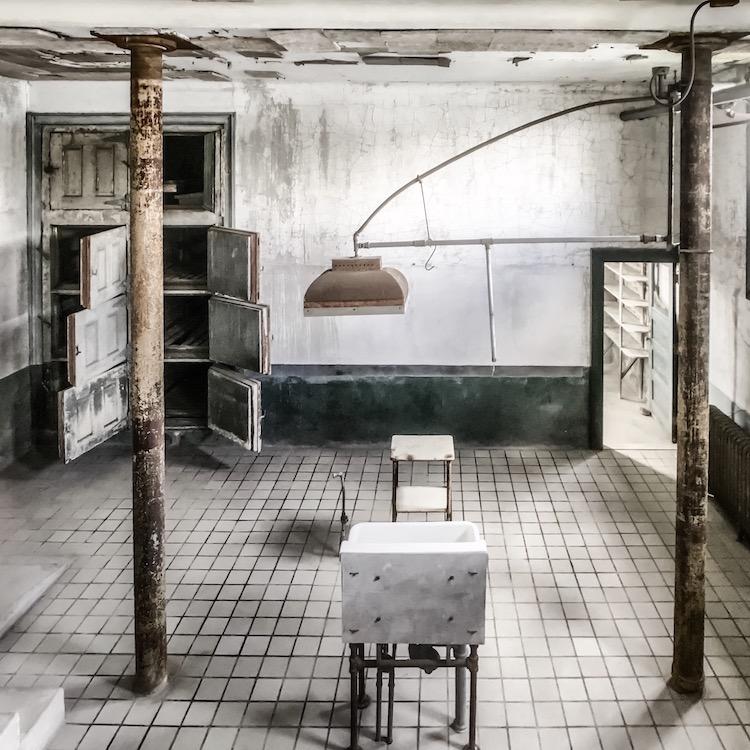 Autopsy room at the abandoned Immigrant Hospital at Ellis Island
