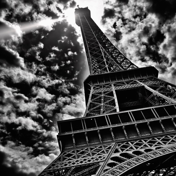 Eiffel Tower in Paris shot with Pro HDR and retouched with (discontinued) Photoshop Touch App