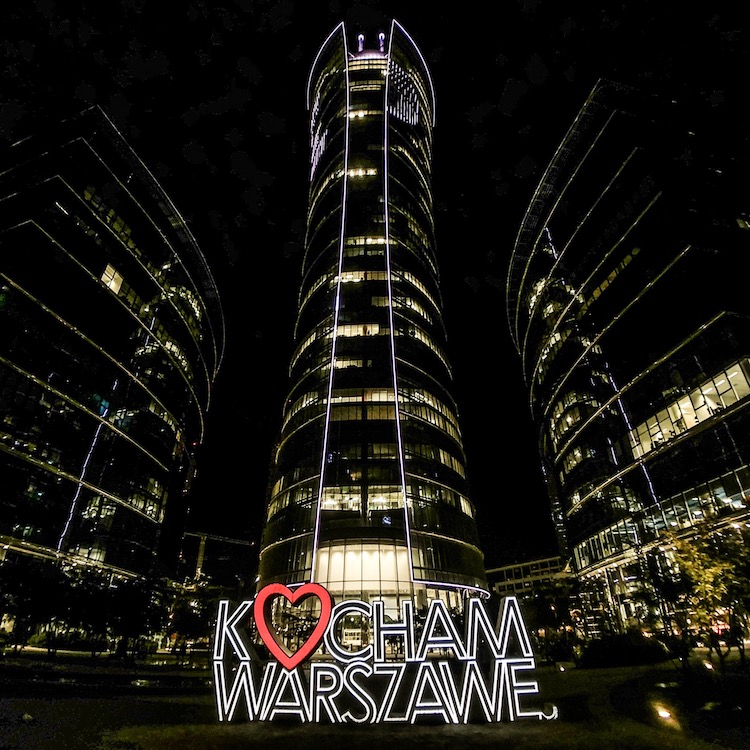 Spire Skyscraper in Warsaw, Poland, photographed with Moment Superfish lens