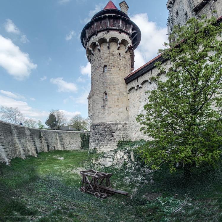 Castle moat at Castle Kreuzenstein