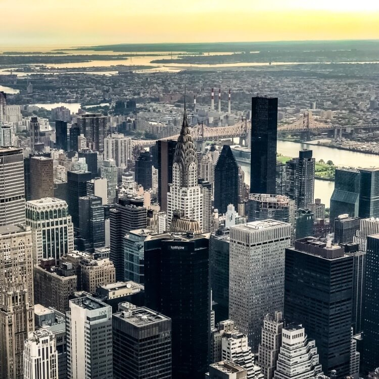 """Chrysler Building photographed from """"Top of the Rock"""" with iPhone 2x Zoom"""