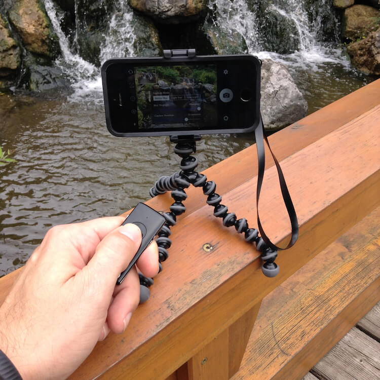 Using a remote shutter release with Slow Shutter Cam App