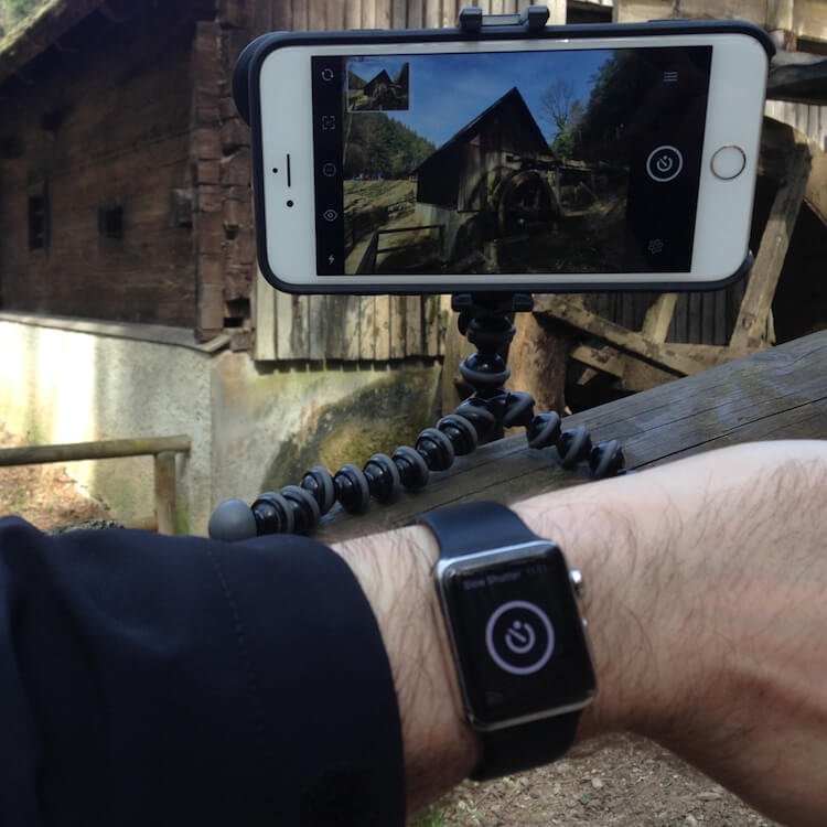 Using Apple Watch as a remote shutter release with Slow Shutter Cam App