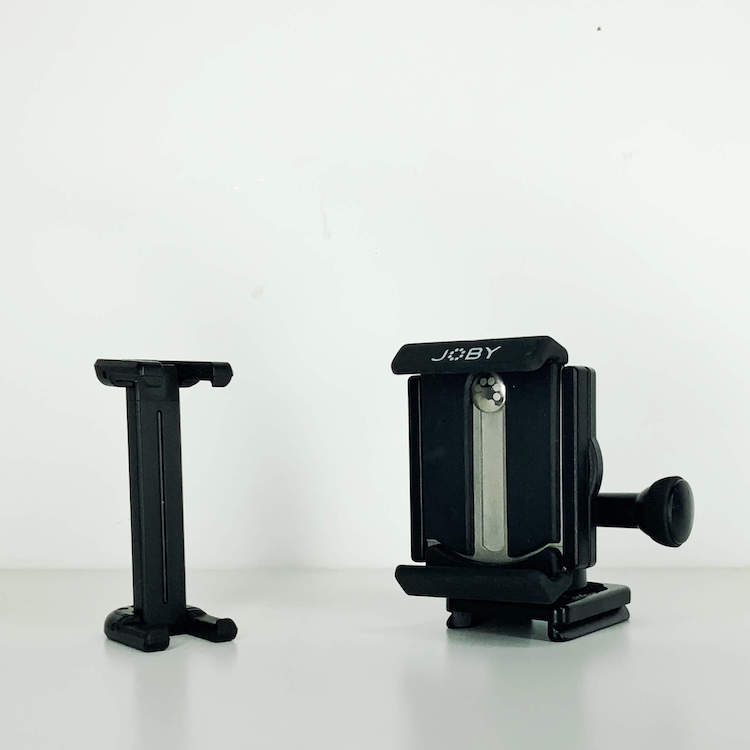 Joby Griptight One and Griptight Pro iPhone tripod mounts