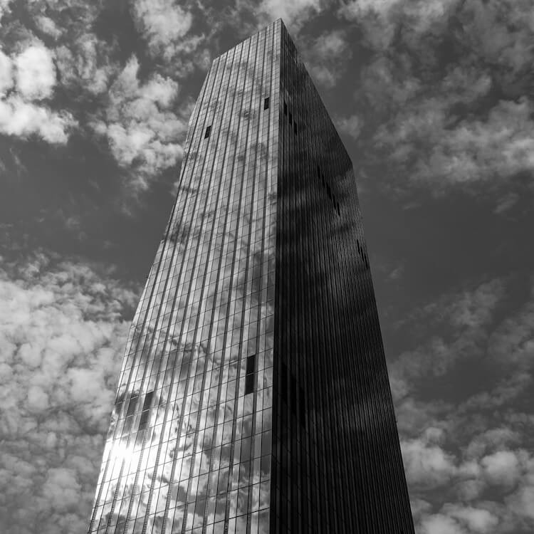 The Glass Tower shot on iPhone with Sony QX100 attachable lens style camera