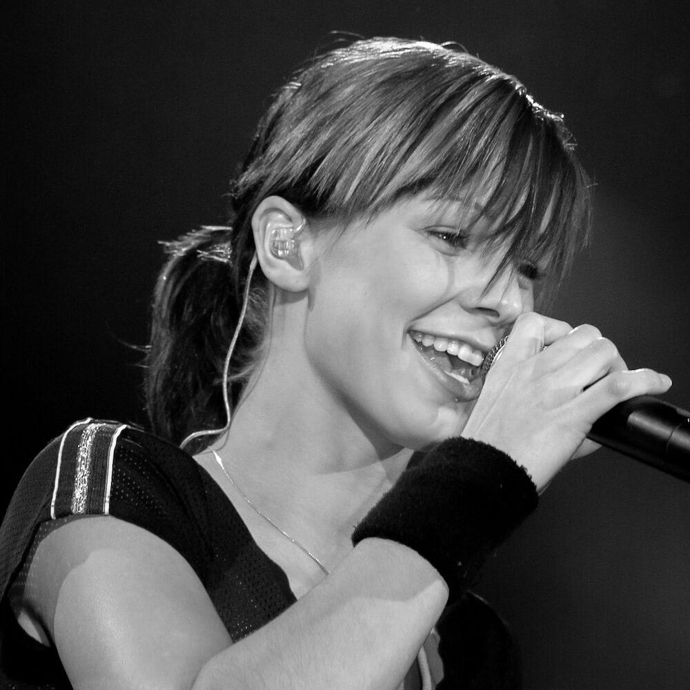 Christina Stürmer at a concert in Vienna
