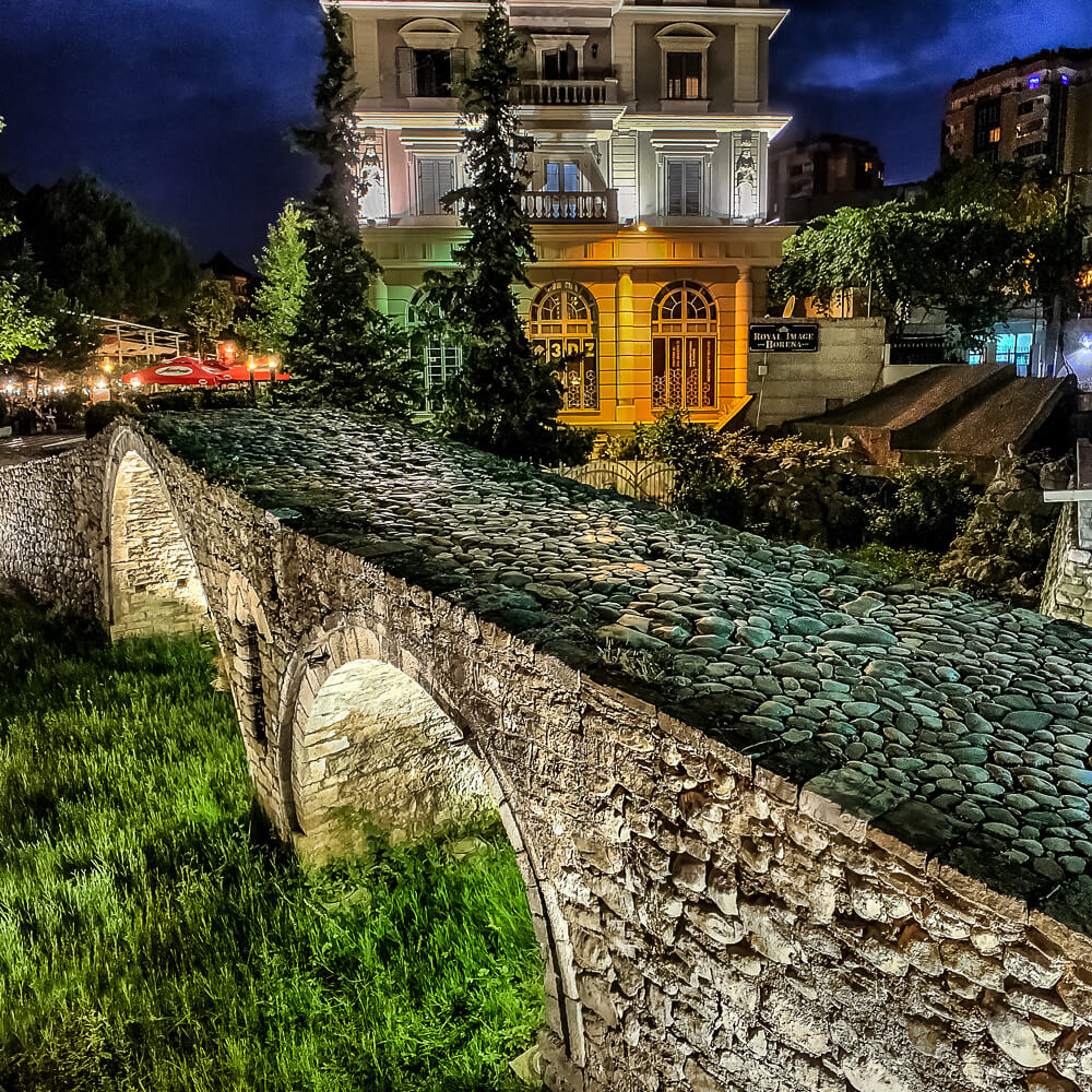Tanner's Bridge in Tirana captured with Low Light HDR mode using ProCamera