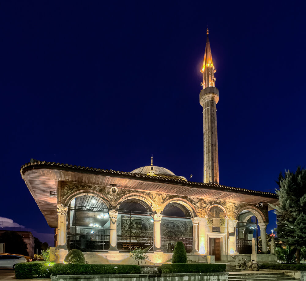 Night Photography with iPhone: Et'hem Bey Mosque in Tirana, Albania