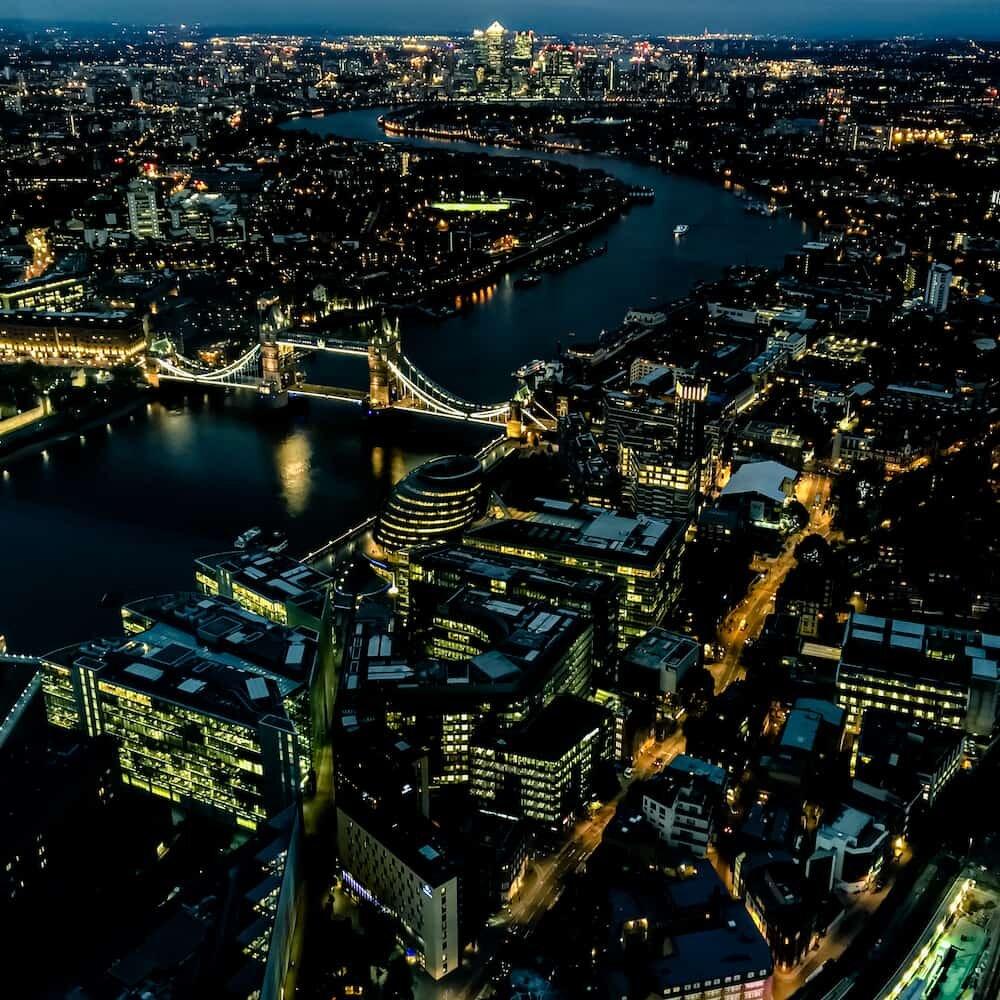 Simulated long exposure of nightly London shot on iPhone 6s Plus using Pro Camera Night Mode