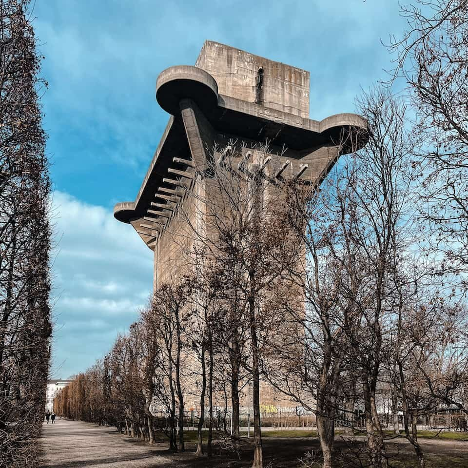 The lead tower at Augarten. Can you spot the people?