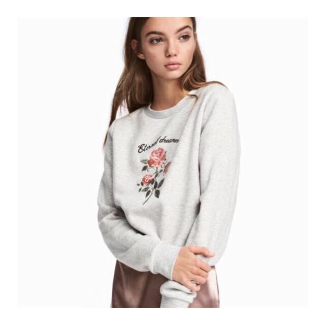 H&M  Embroidered sweatshirt $34.99