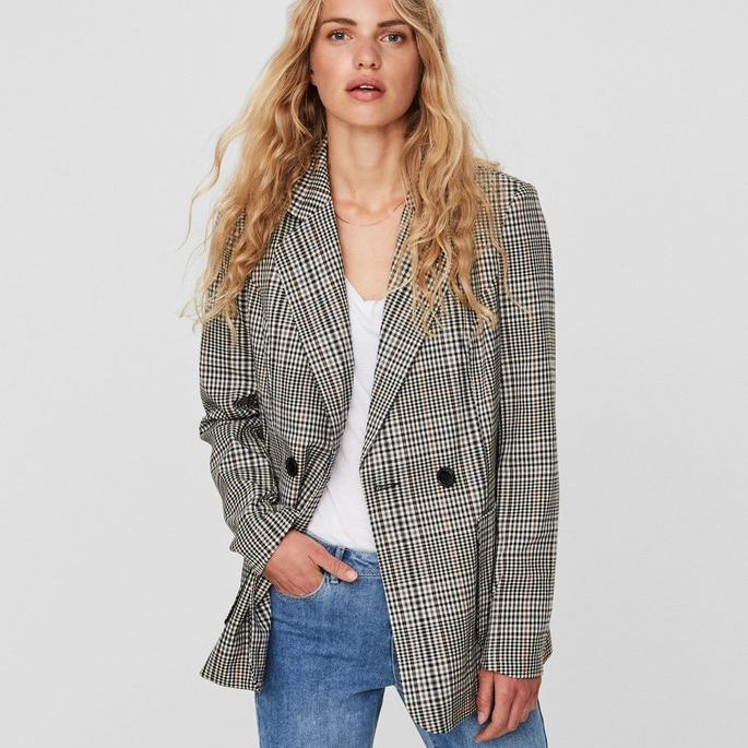 Vero Moda @ Asos Vero Moda Check Tailored Blazer $89