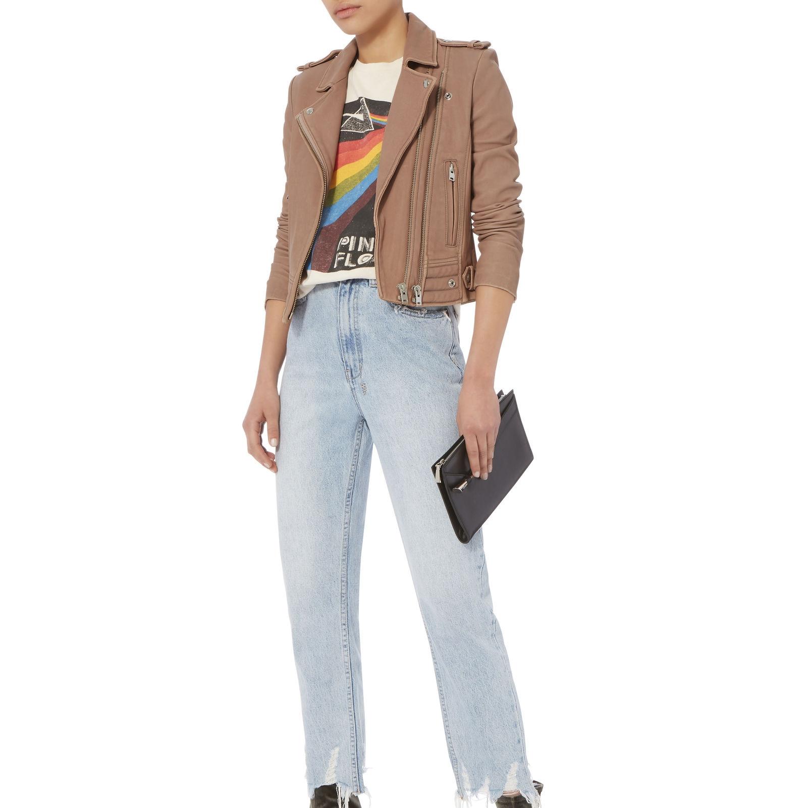 IRO @ Intermix Luiga Pink Cropped Leather Jkt $1661.52