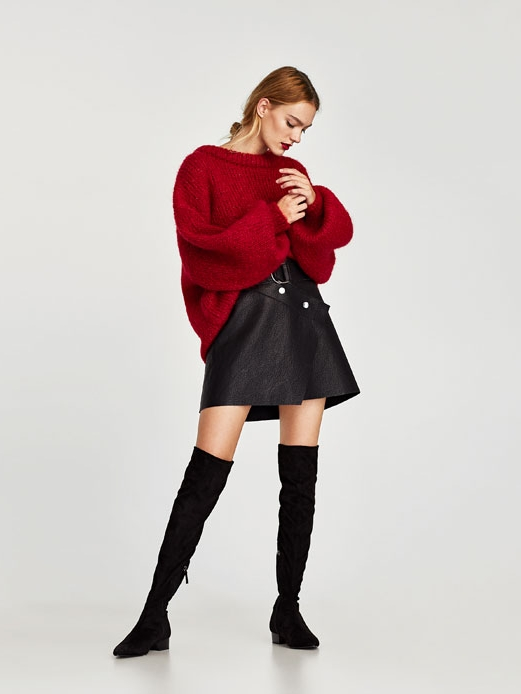Zara Combined Flat OTK Boot $69.90