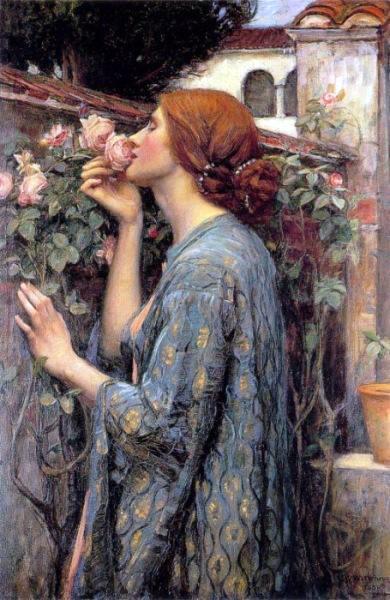The Soul of a Rose,   John William Waterhouse