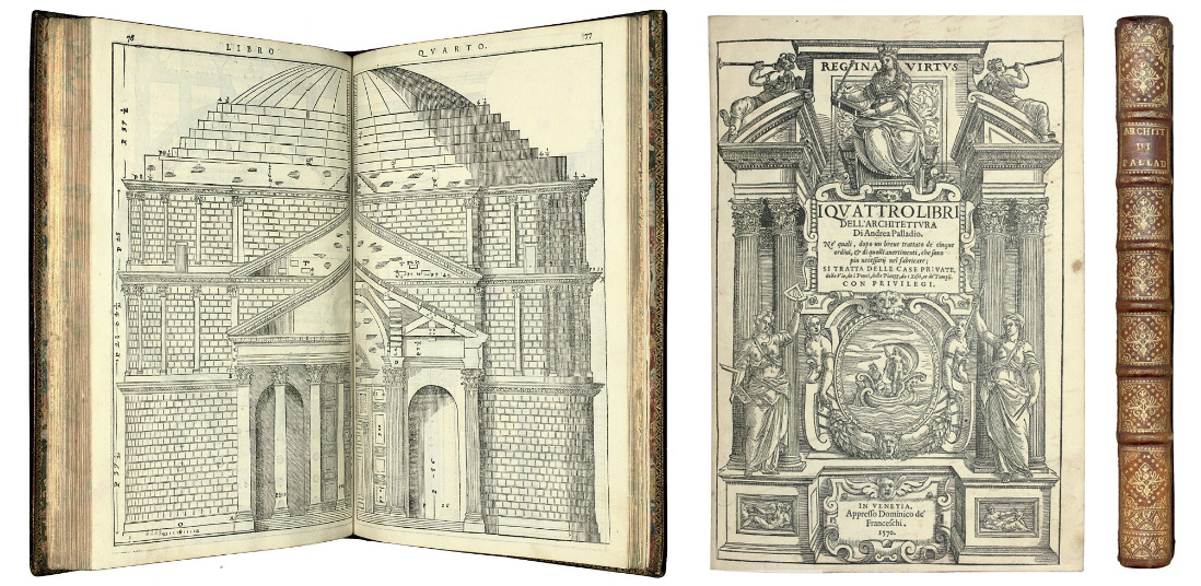 ANDREA PALLADIO,  THE FOUR BOOKS OF ARCHITECTURE,  1570