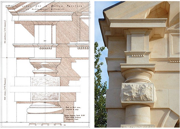 DETAIL OF A NEW PALLADIAN VILLA