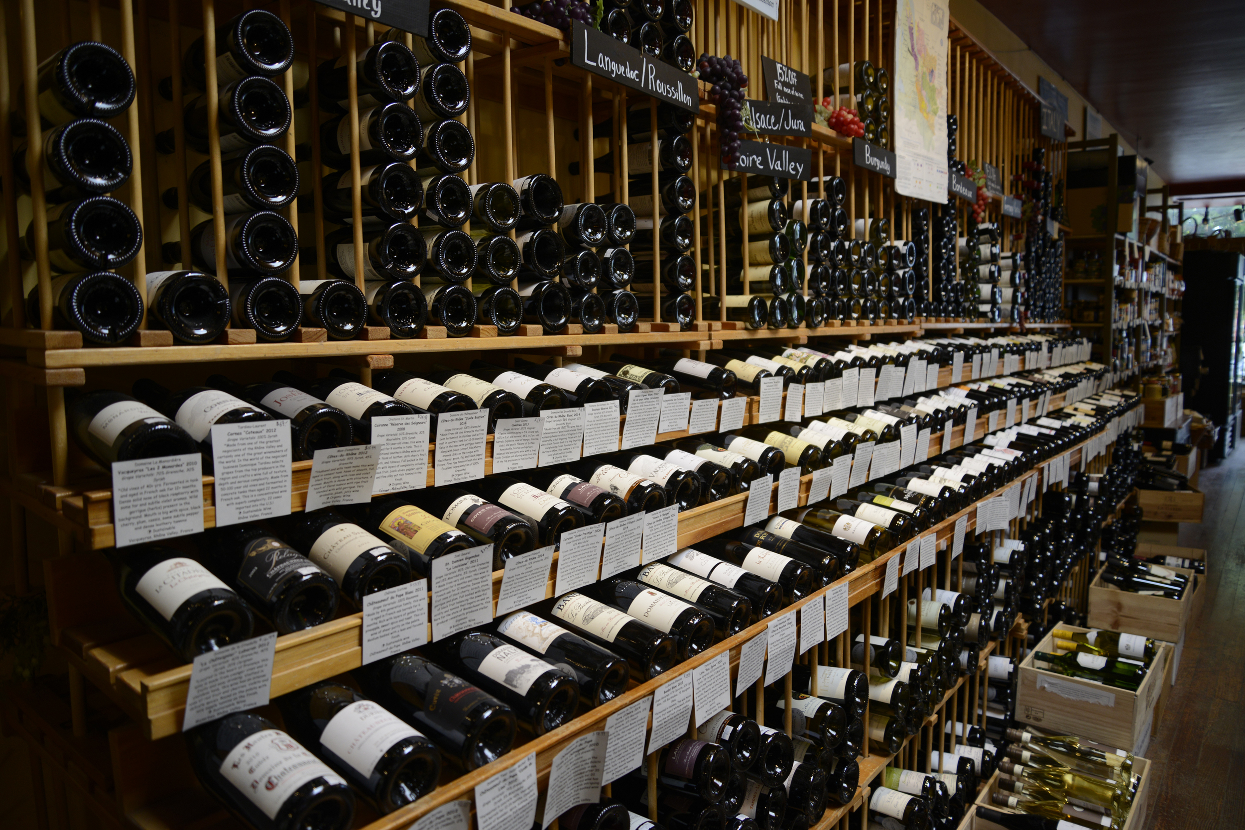 Grand Trunk's selection of French Wines, categorized by region