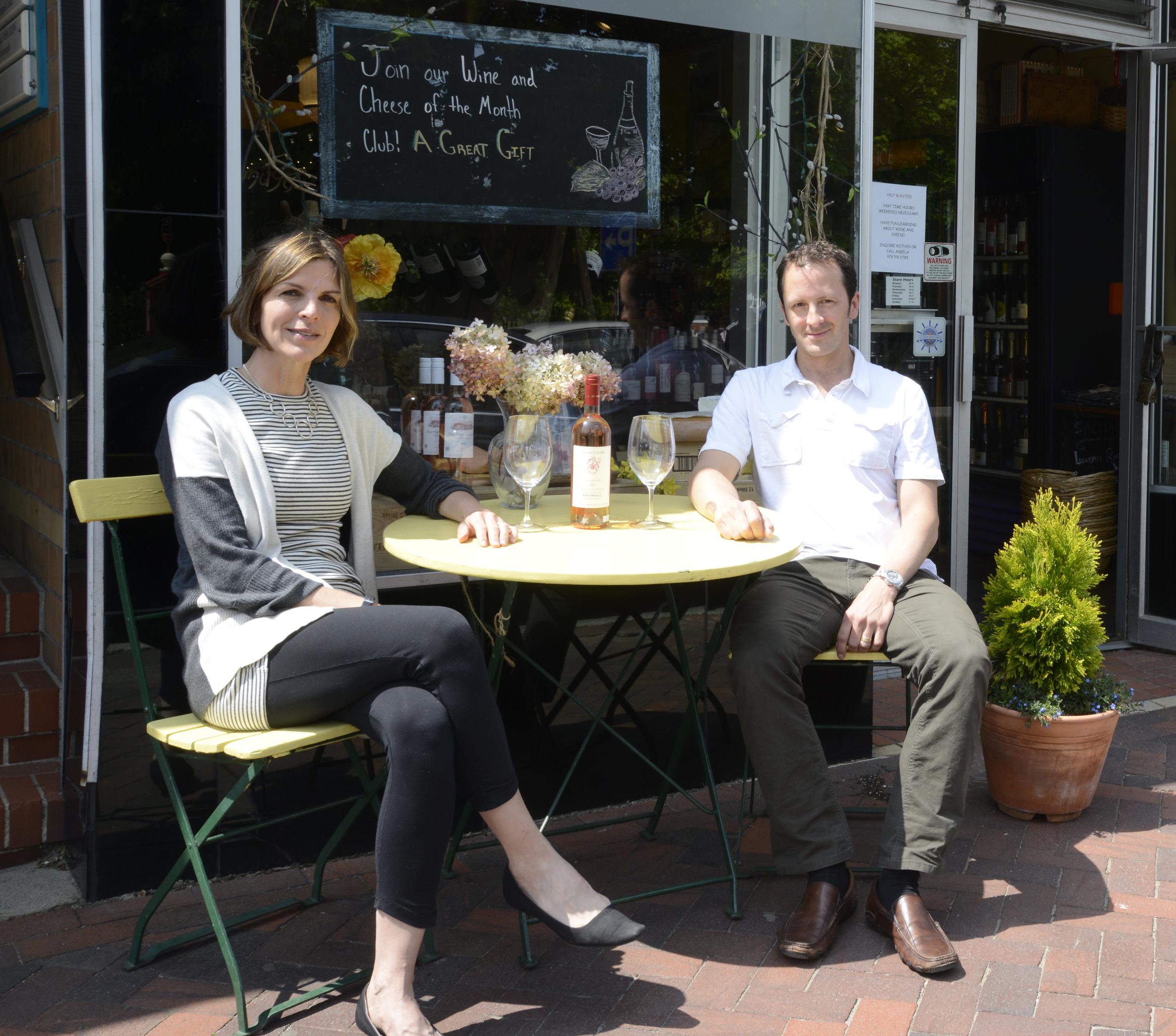 The Kirkpatricks enjoying a warm spring day at the shop