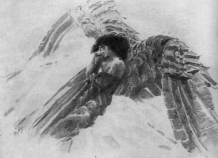 Mikhail Vrubel's  study  The Demon  represents an archetypal expression of the dark night of the soul