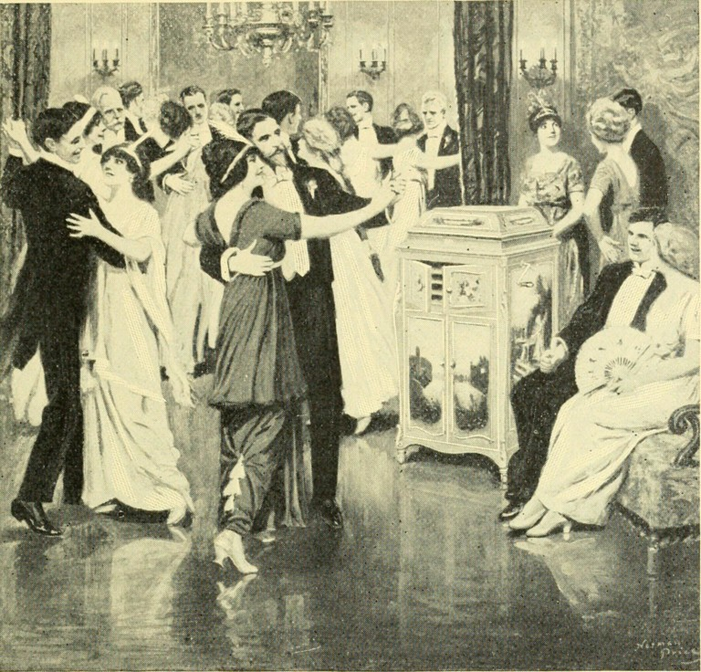 1908 ILLUSTRATION OF AMERICANS DANCING THE  MAXIXE