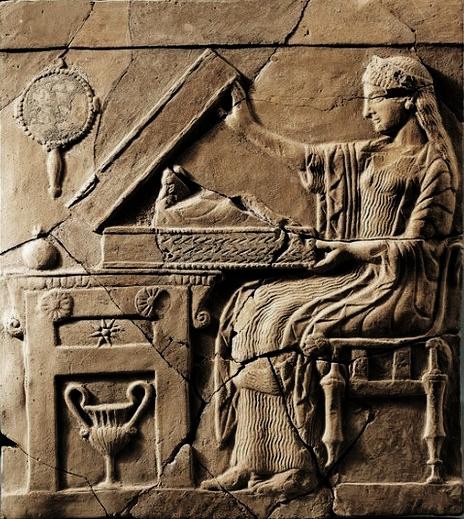 Pinax of persephone, goddess of the underworld