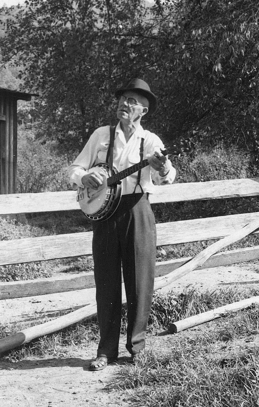 celebrated appalachain clawhammer banjo player  clarence ashleY