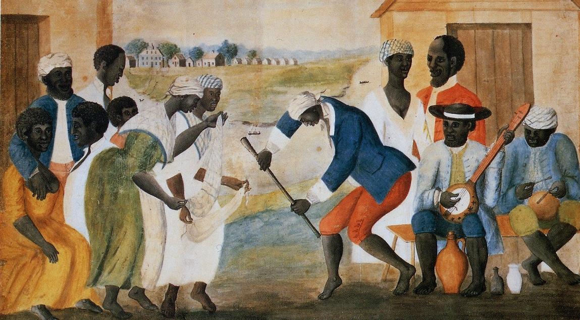 The Old Plantation  ( Slaves Dancing on a South Carolina Plantation ), ca. 1785-1795.—John Rose