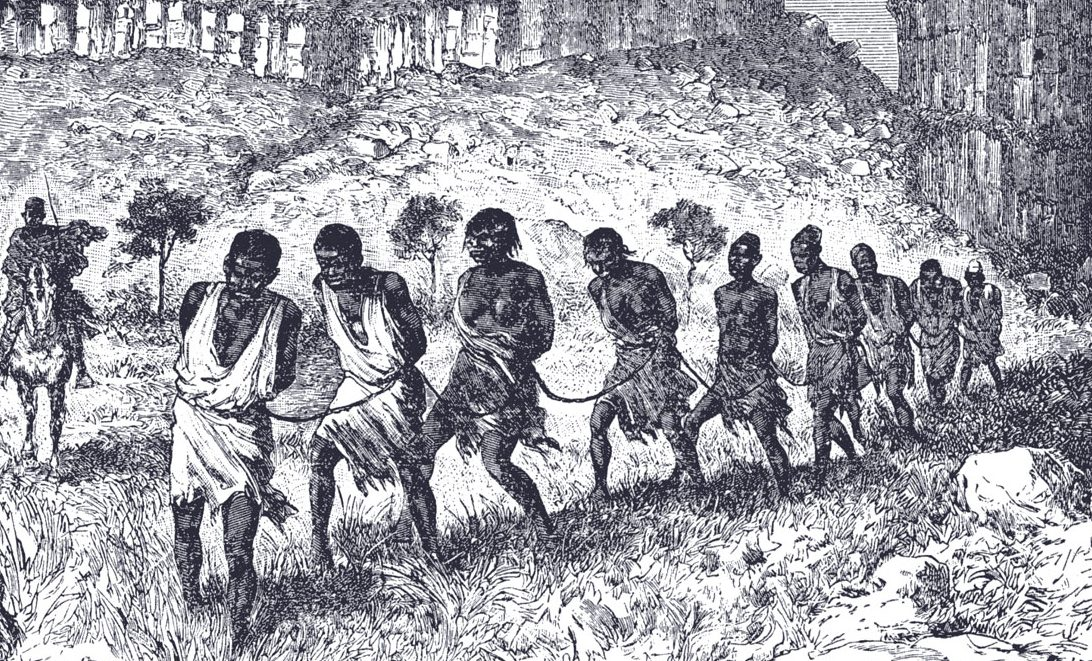 A depiction of Africans being kidnapped