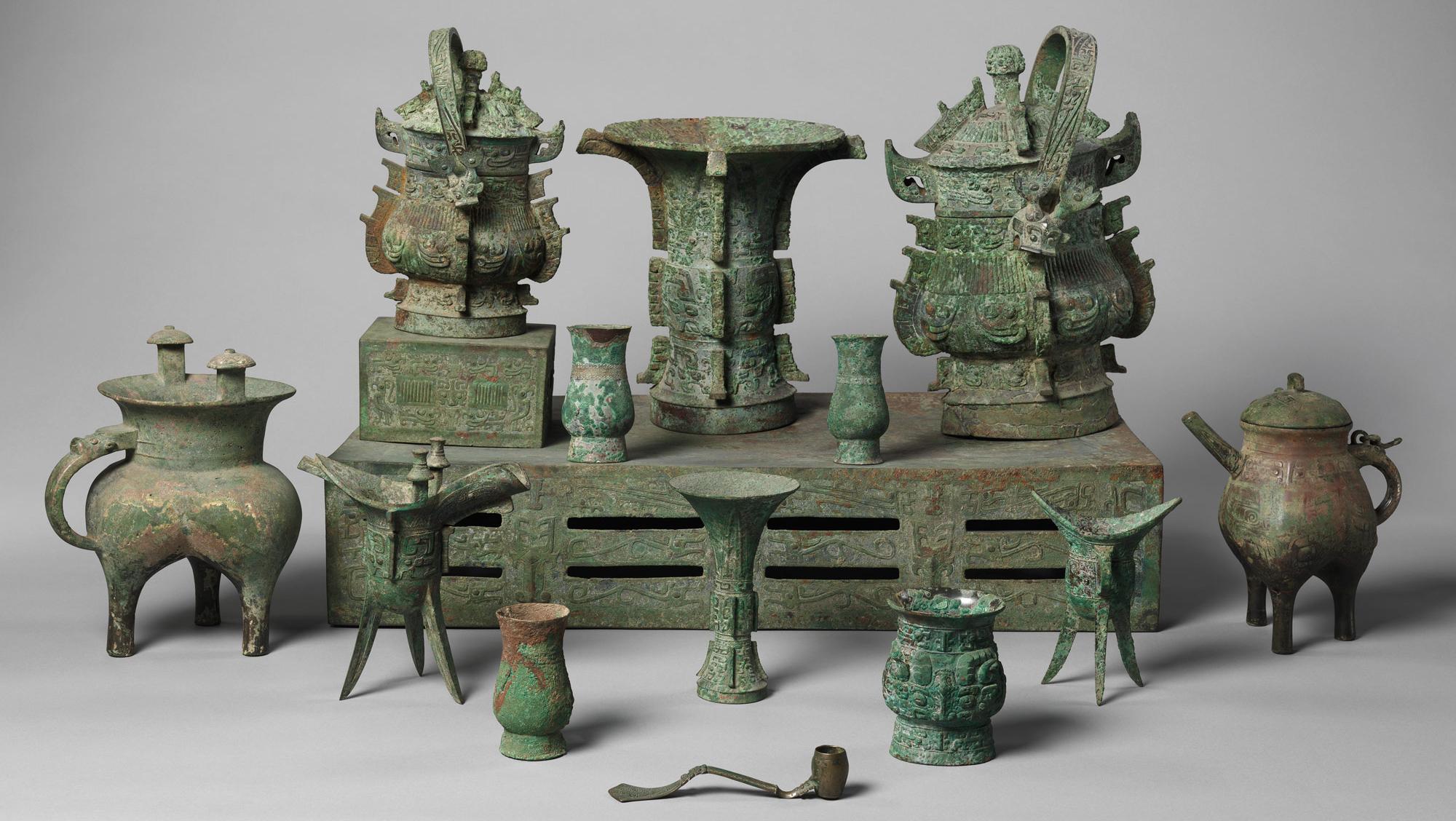 chinese ritual altar set,1046–771 B.C.