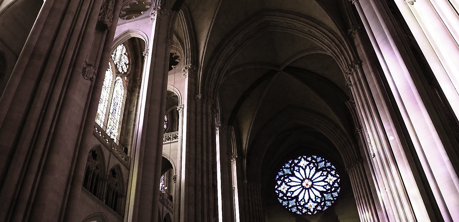 NAVE OF the Cathedral of Saint John the Divine, NYC.—COMPLETED 1941