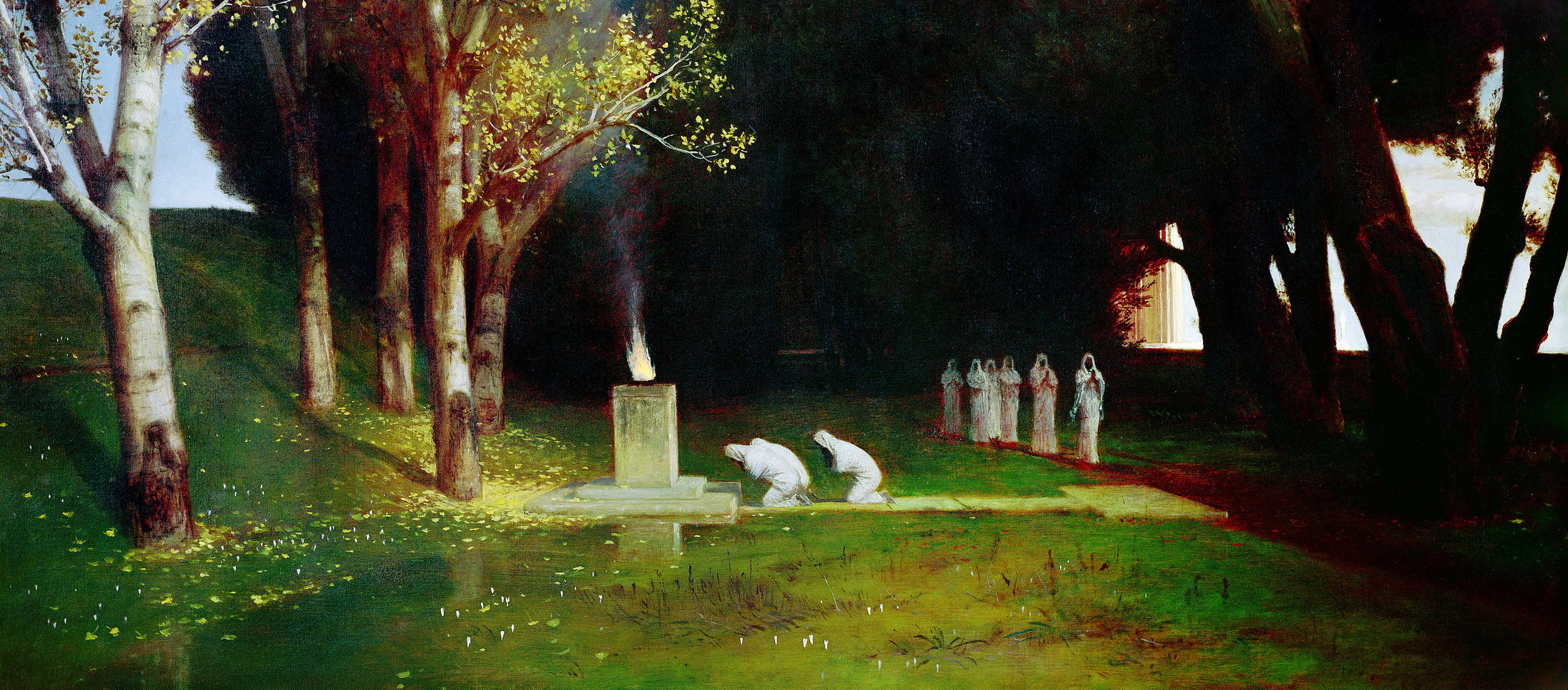 The Sacred Grove.—Arnold Böcklin, 1882