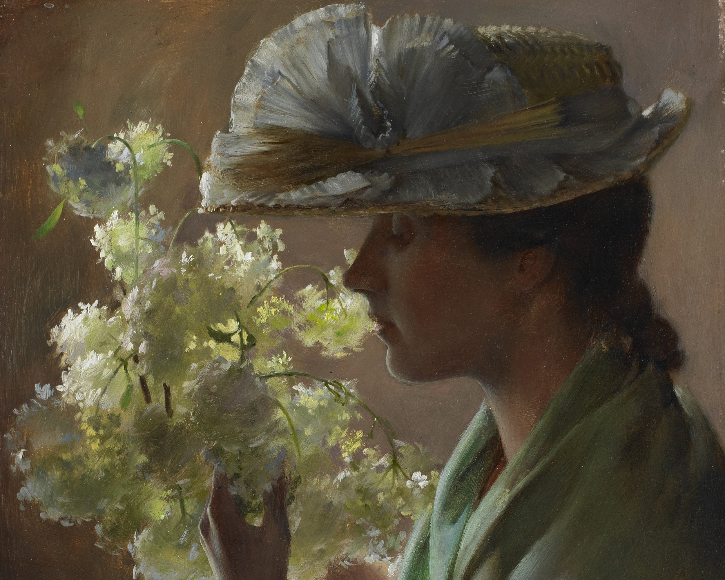 Lady with a BouqueT , CHARLES COURTNEY CURRAN