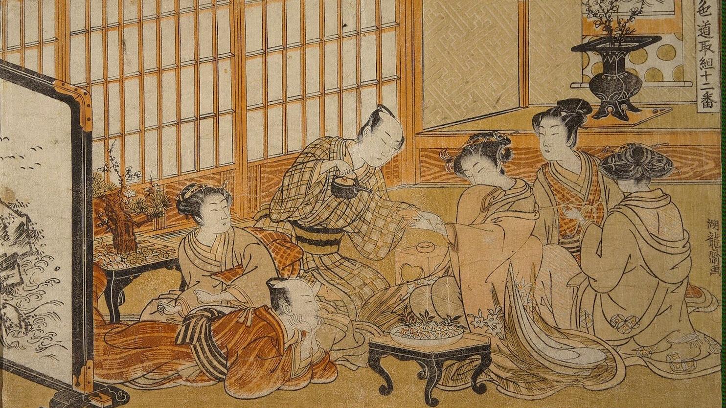 Tea-Ceremony-Isoda-Koryusai-oil-painting-2.jpg