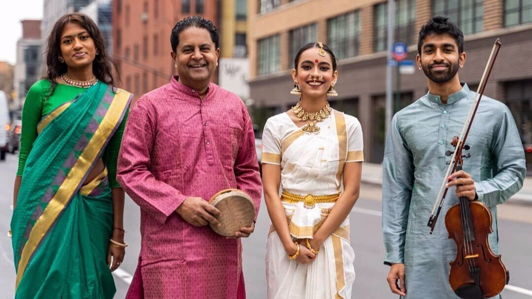 Yamini with the  carnatic ensemble  in New York