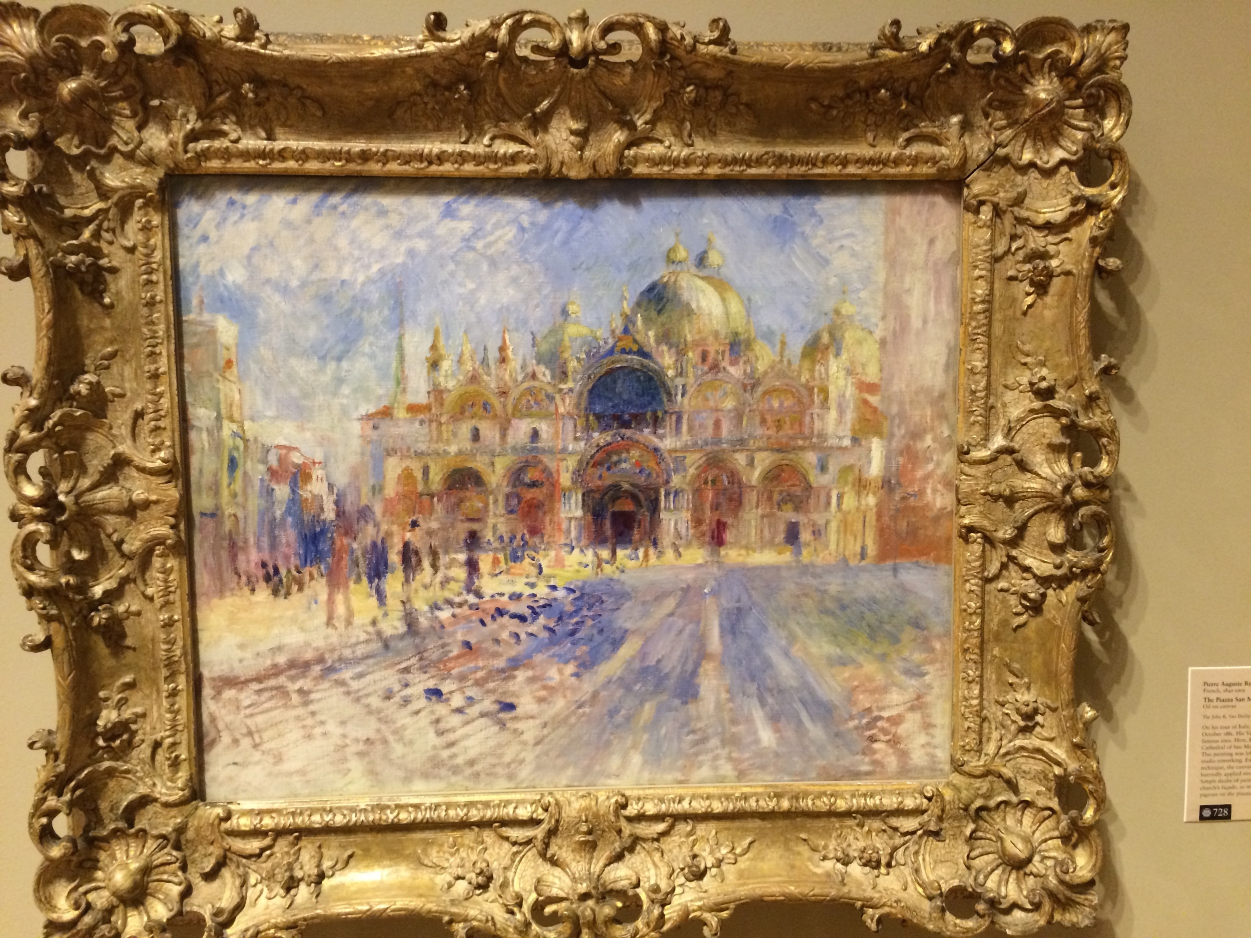 This painting had special significance for Matthew Mitchell in Pod 8. It is a painting of Venice, Italy, in the Piazza San Marco. It is idealized and romanticized, because in reality, the piazza is not that colorful...but it is beauty as the artist remembers it. The blue on the piazza stone walkway may be representative of the frequent flooding of the piazza, during which the locals get out large tables to walk on.
