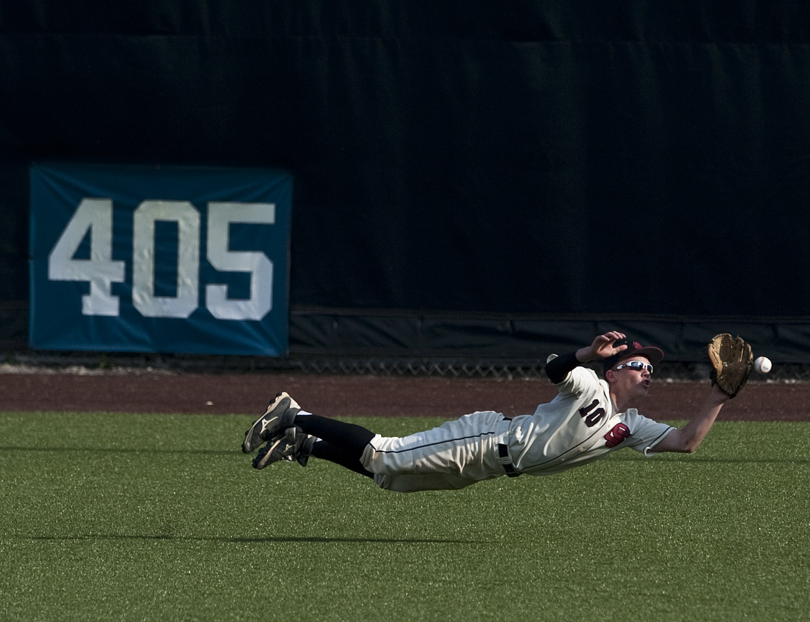 Serra Catholic's Jake Eged dives for a ball against Greensburg Central Catholic in the WPIAL Class A championship game on Wednesday, June, 2016, at Consol Energy Park in Washington. Serra Catholic won 6-3.