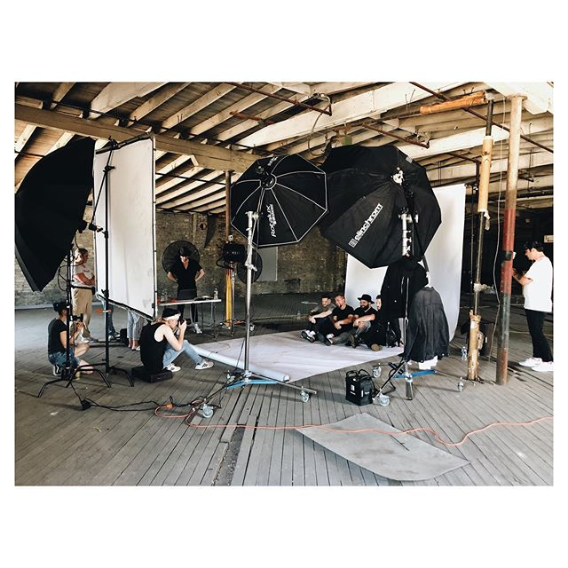 TODAY WAS HOT. Like. Literally. Location today was amazing but no AC! Big thanks to my team for sweating it out with me and helping me make some killer work today 💪🏼 BTS photos by @nikiminphotography