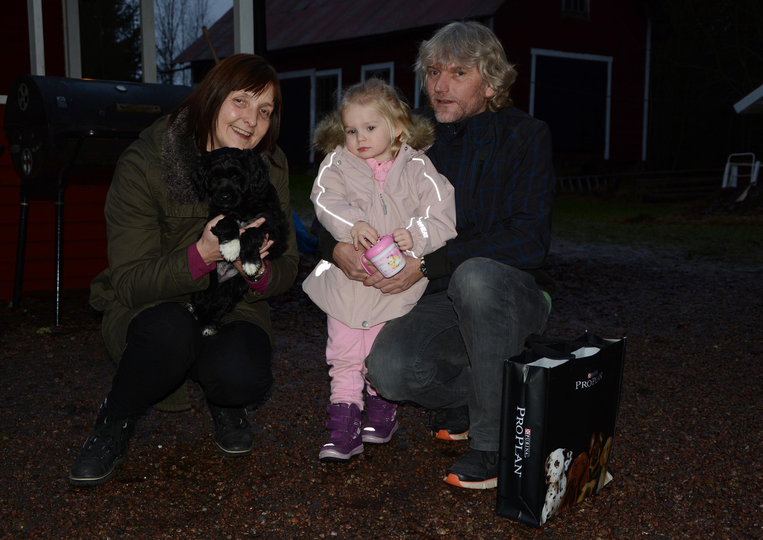 Sofie med sin familj