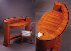 Images Zsuzsanna emailed of the original Biedermeier writing table by Joseph Danhauser.