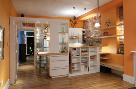 A small kitchen with a big space in Boston's South End.