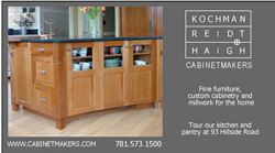 KR+H's sponsorship ad to appear in The Newton House Tour booklet.