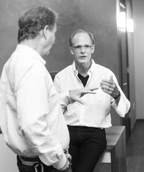 John Willett, Altair Associates, and KR+H's Paul Reidt in conversation.